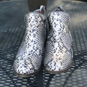 Lucky Brand Snake Leather Booties